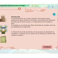 Laboratorio virtual de reciclado de papel