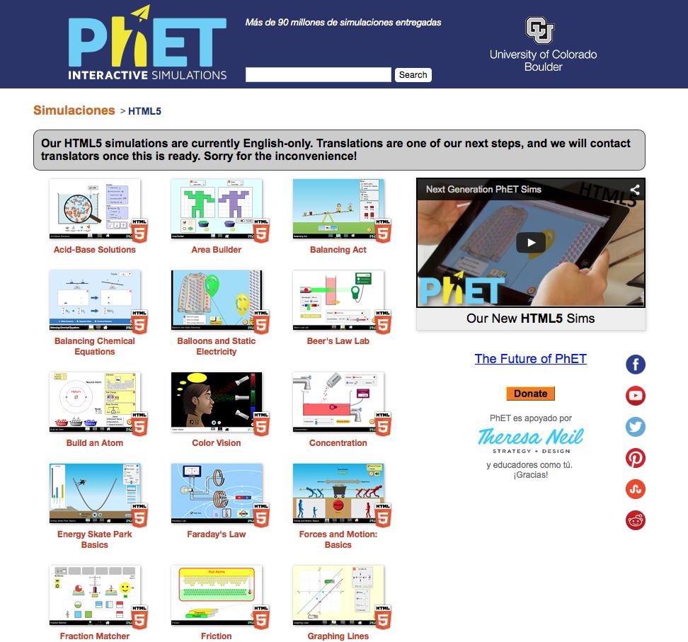 Phet, simuladores gratuitos descargables y online. » Recursos ...