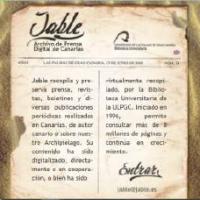 Jable, archivo de prensa histórica