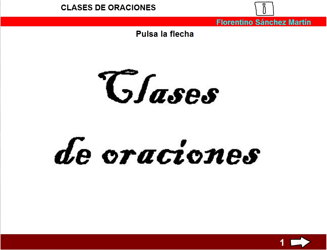 Clases de oraciones » Recursos educativos digitales