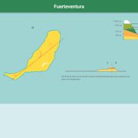 HTML5: Pisos de vegetación de Fuerteventura