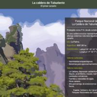 HTML5: La caldera de Taburiente, el pinar canario