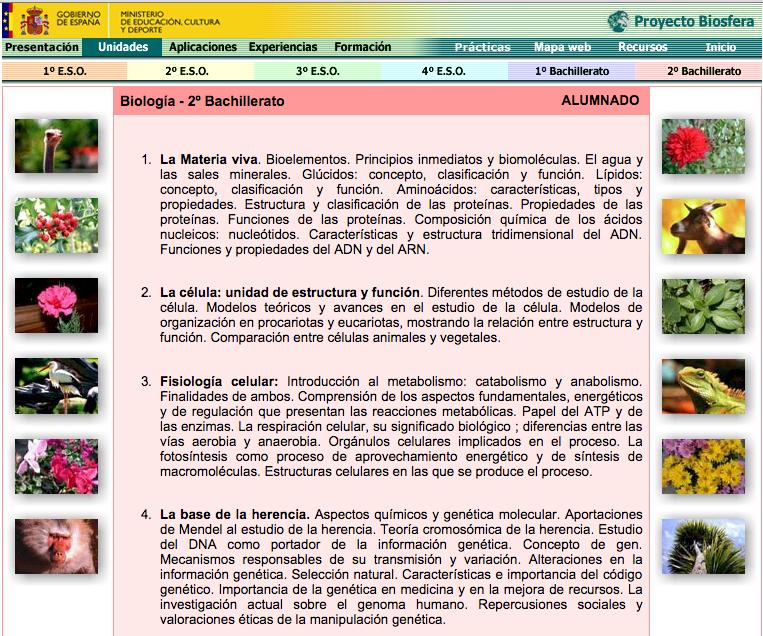 Proyecto Biosfera Recursos Educativos Digitales