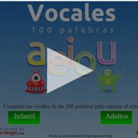 Vocales 100 palabras