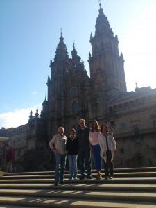 Claudia, Jorge, Franco, Guillermo y Silvia en Galicia
