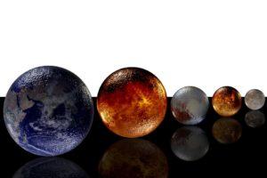 El Sistema Solar a escala en el pasillo de nuestro centro