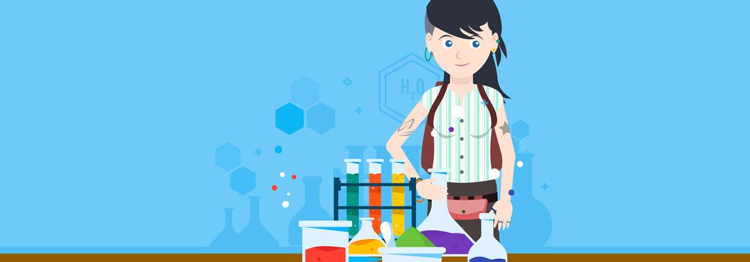 Experimenta en el laboratorio.