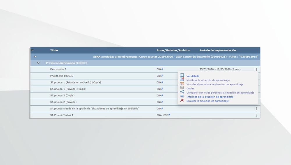 Modificar el menú de funcionalidades de las SSAA.
