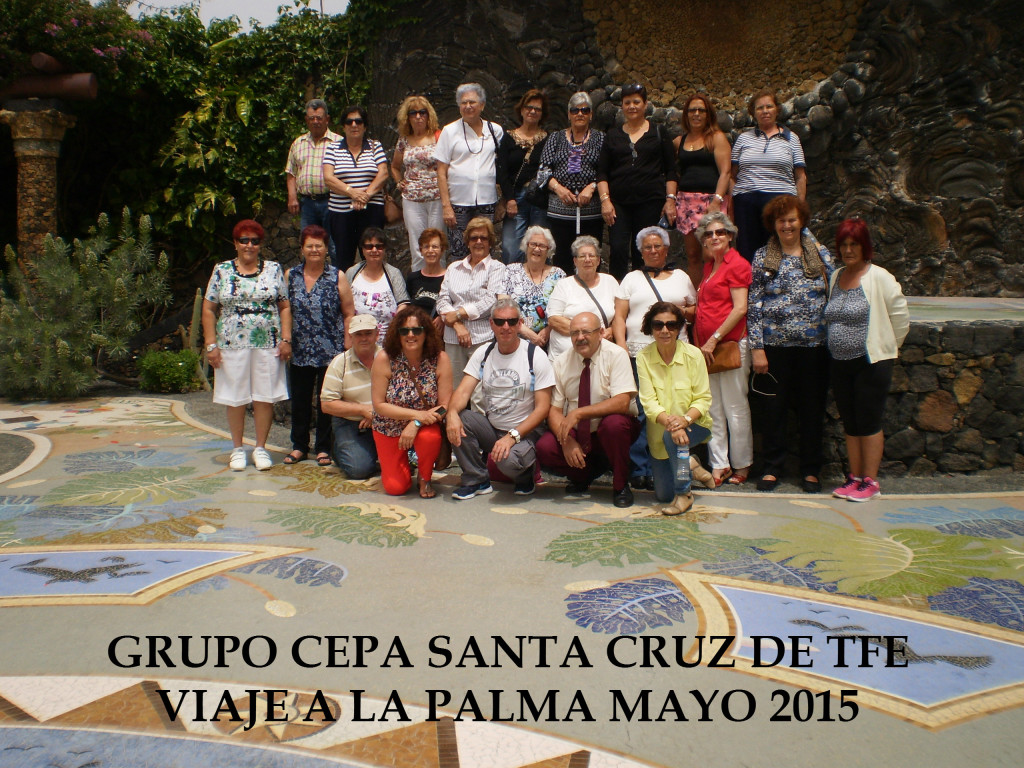 FOTO GRUPO VIAJE LA PALMA 2015