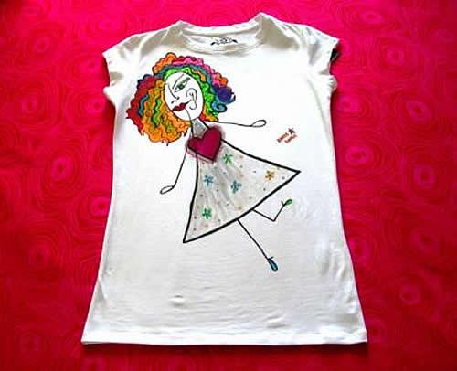 Como pintar camisetas a mano imagui - Plantillas para pintar camisetas a mano ...