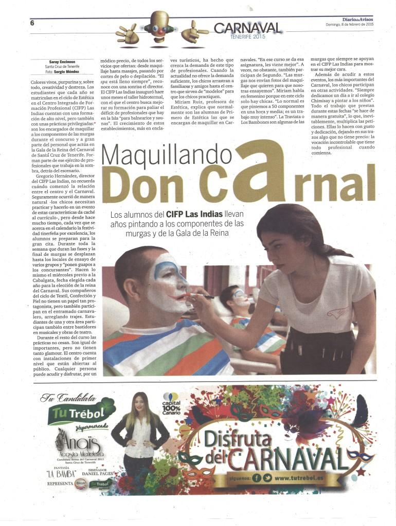 Diario de Avisos 8 Febrero 2015