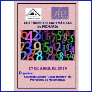Cartel torneo matemáticas