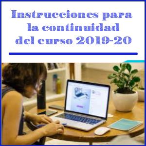Imagen de cabecera instrucciones finales del curso 2019-20