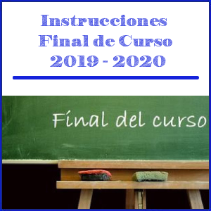Cabecera Instrucciones fin de curso 2019-2020