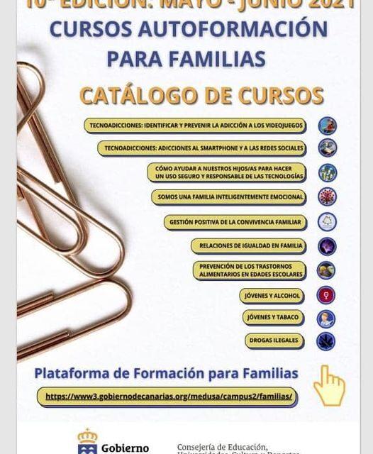 """10º EDICIÓN MAYO JUNIO PLATAFORMA """"en_familia: formación online"""""""