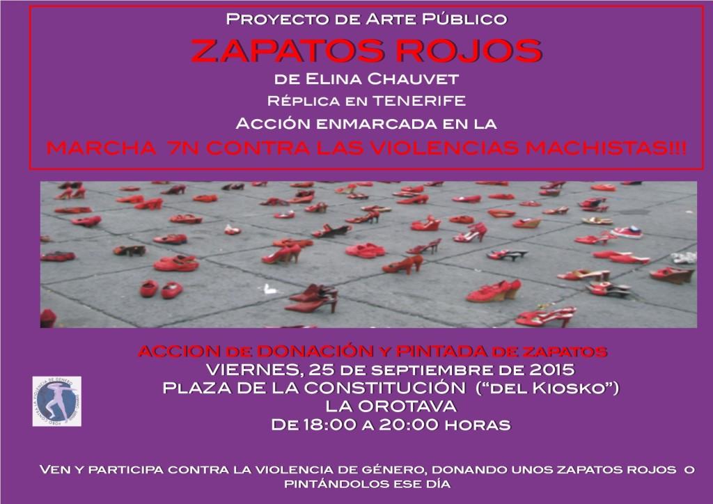 Cartel Zapatos Rojos La Orotava