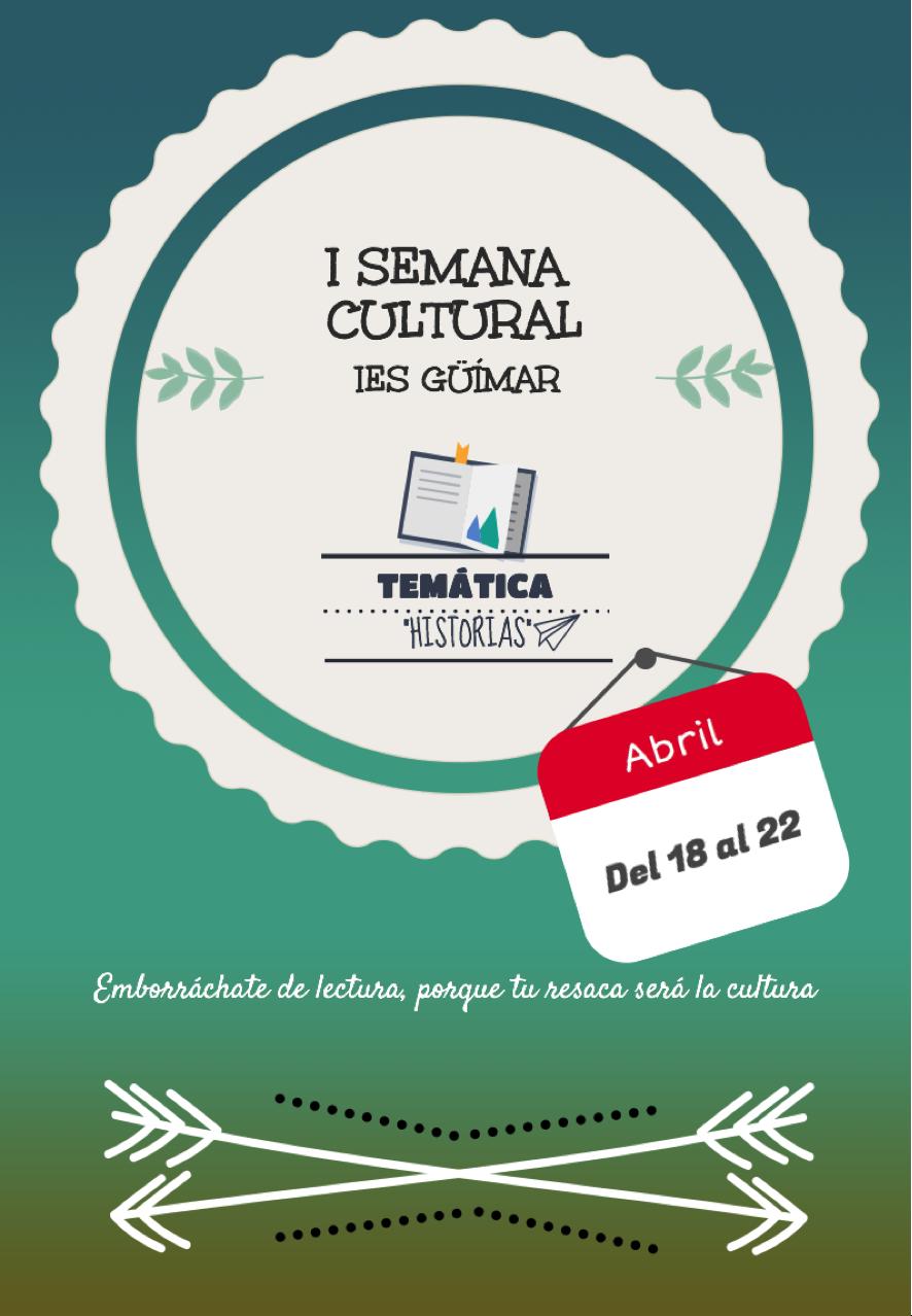 Cartel oficial Semana Cultural