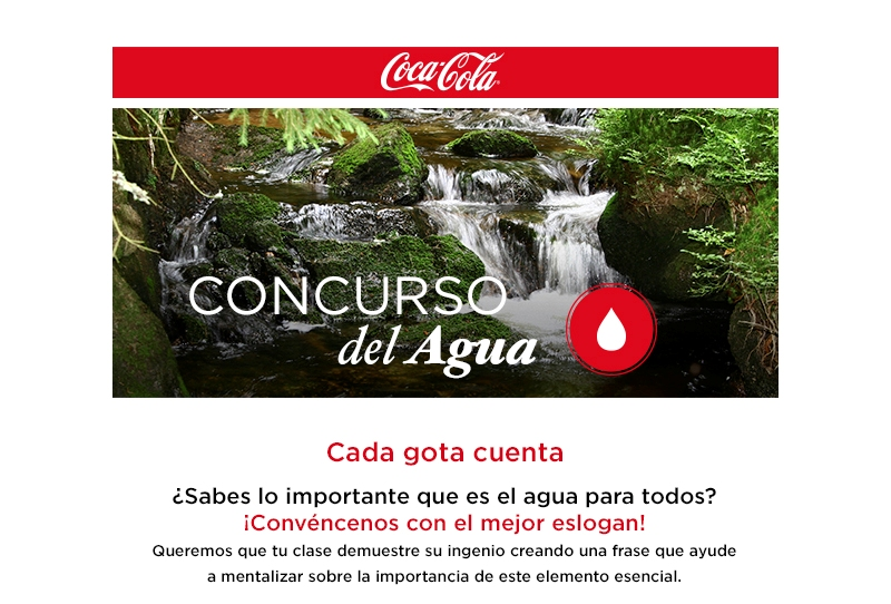 cartel concurso agua