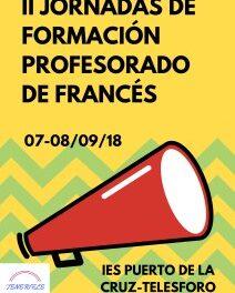 II Jornadas de formación del profesorado de francés
