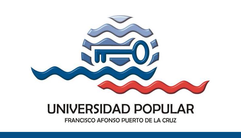 Oferta formativa de la Universidad Popular de Puerto de la Cruz