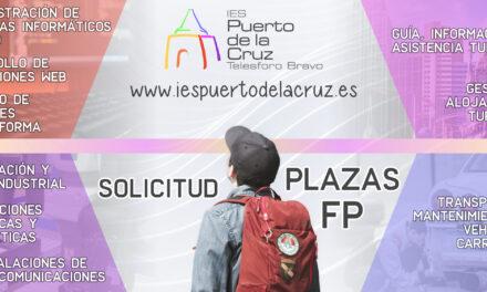 Solicitud de plaza para Bachillerato, FPB y ciclos de FP (curso 2021/22)