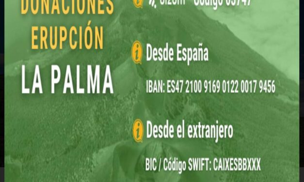 Donaciones a La Palma