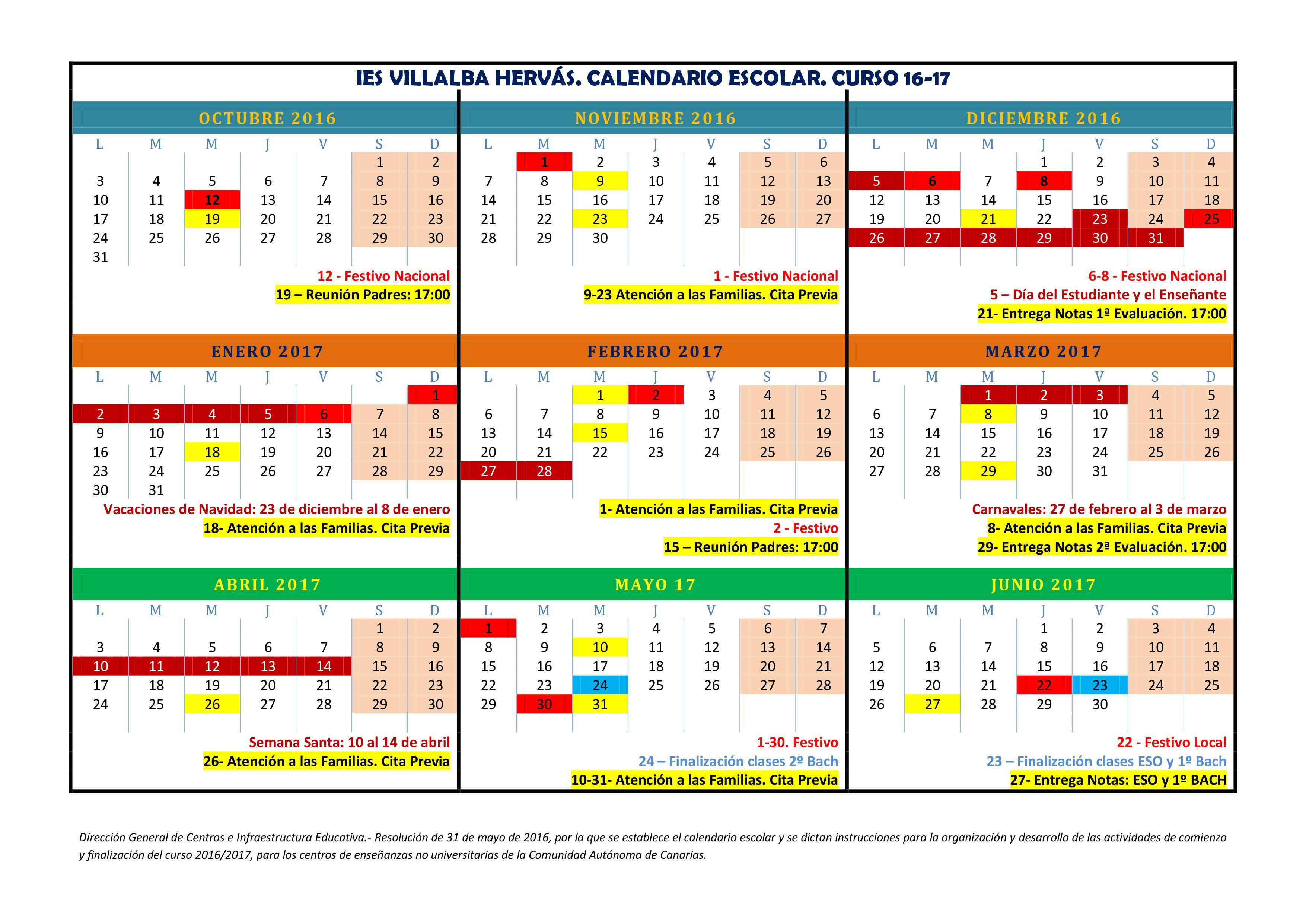 Calendario 16-17 Villalba