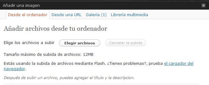 elegir archivos