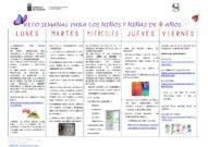 RETO SEMANAL 4 AÑOS -9–08 al 12 junio