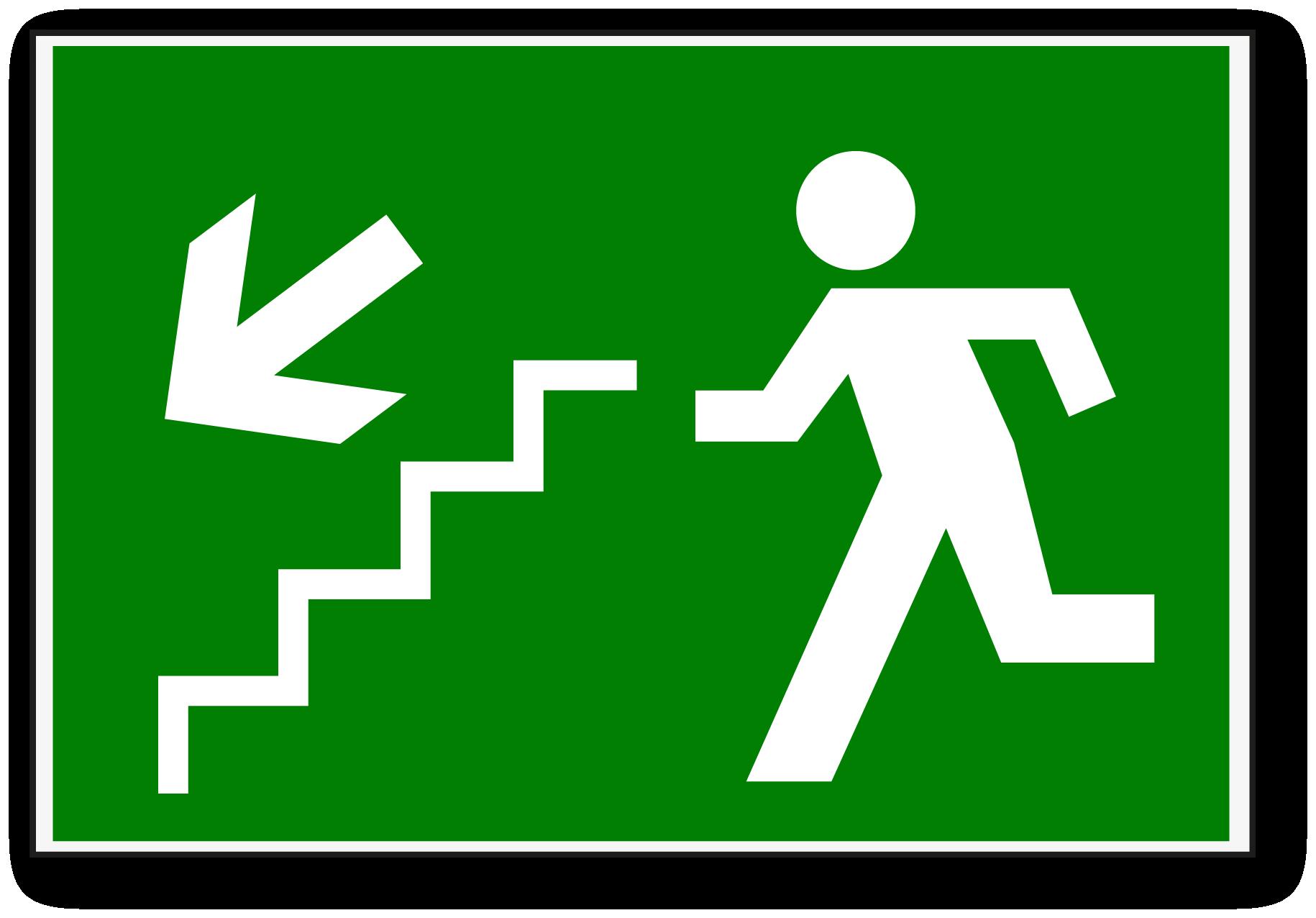 Se al de escalera de emergencia canal del rea de for Escaleras de emergencia