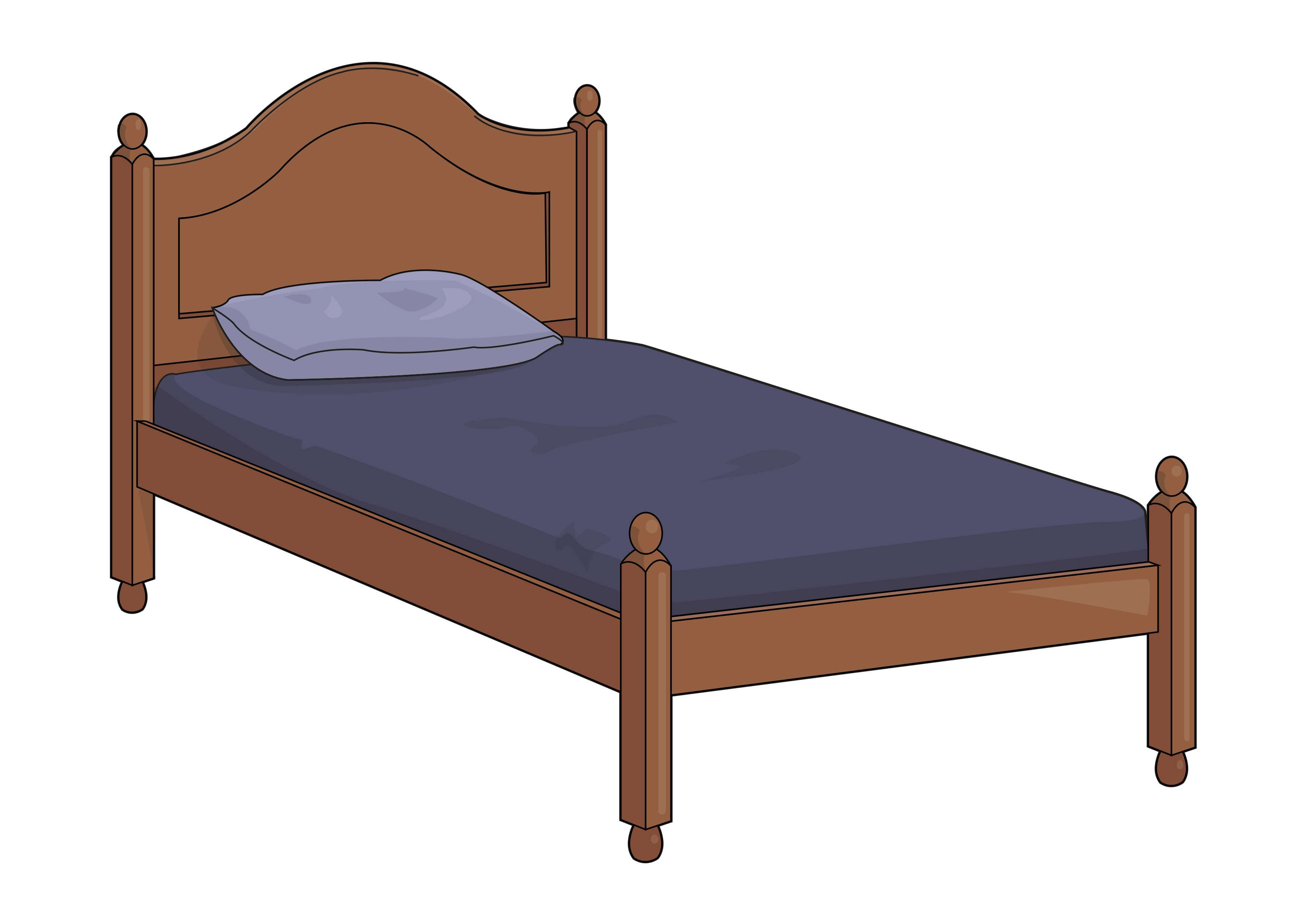 Single Bed Png