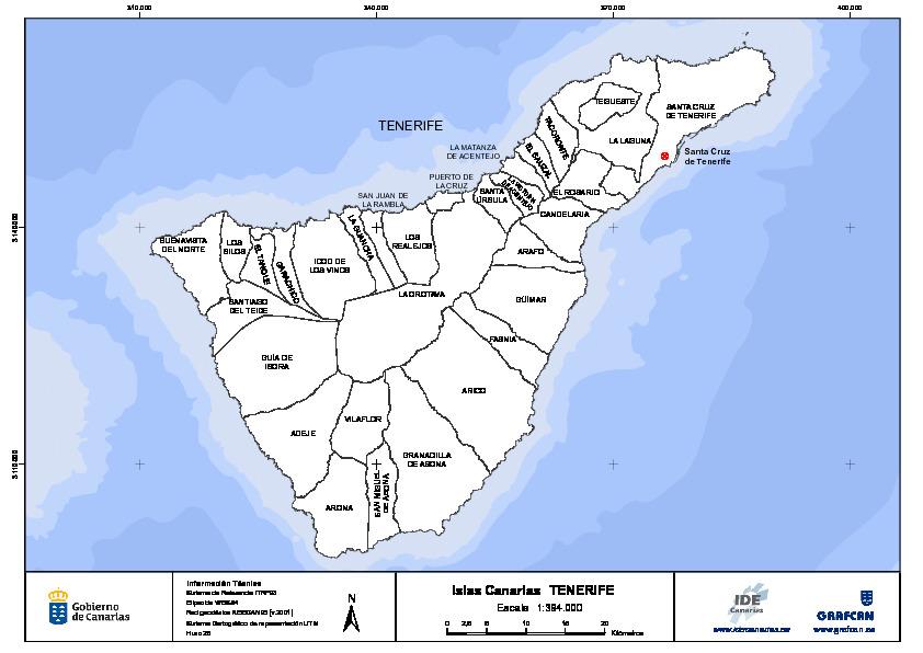 Mapa De Tenerife Municipios.Mapa Mudo De La Isla De Tenerife Con Capas Configurables Canal Del Area De Tecnologia Educativa