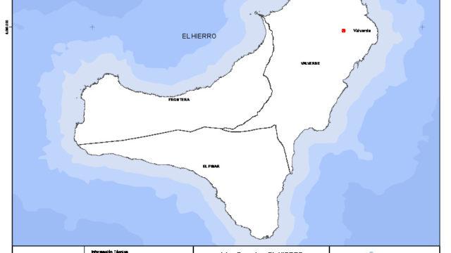 Mapa mudo de la isla de El Hierro con capas configurables