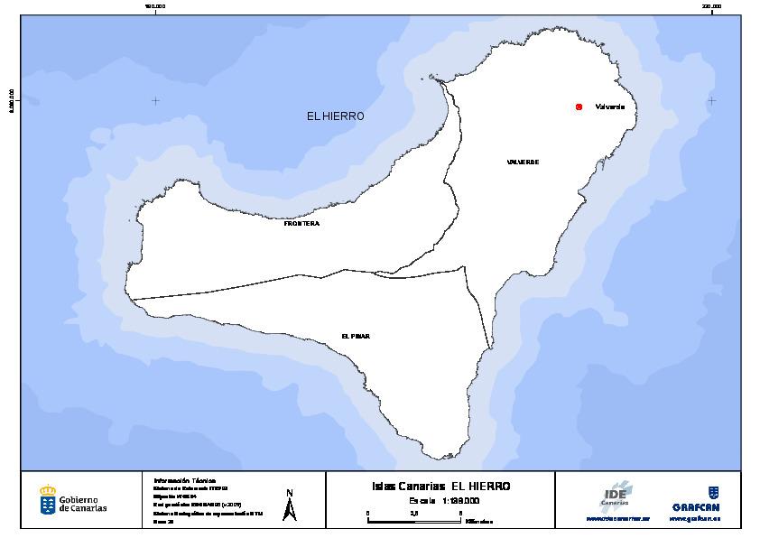 Mapa De El Hierro.Mapa Mudo De La Isla De El Hierro Con Capas Configurables