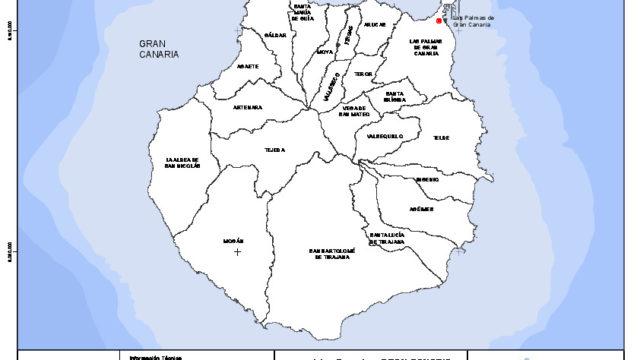 Mapa mudo de la isla de Gran Canaria con capas configurables