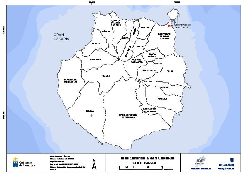 Mapa Mudo De Canarias.Mapa Mudo De La Isla De Gran Canaria Con Capas Configurables
