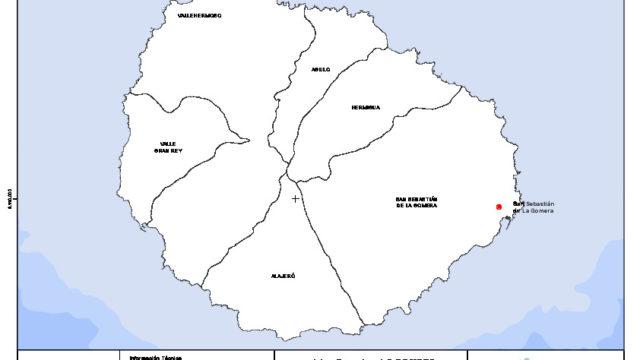 Mapa mudo de la isla de La Gomera con capas configurables