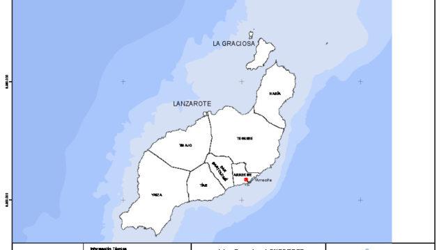 Mapa mudo de la isla de Lanzarote con capas configurables
