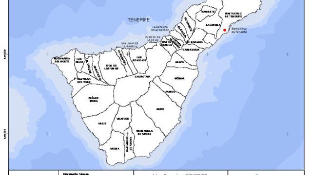 Mapa Mudo De La Isla De Tenerife Con Capas Configurables Canal