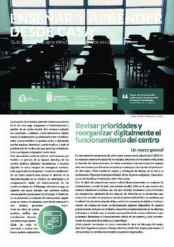 Enseñar y aprender desde casa: Guía a equipos directivos de centro