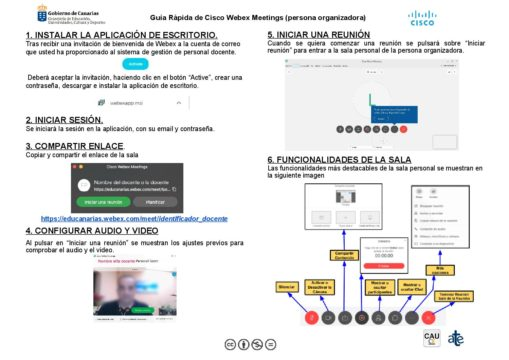 Guía rápida de Cisco Weber Meetings (persona organizadora)