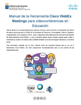 Manual de la Herramienta Cisco WebEx Meetings para videoconferencias en Educación