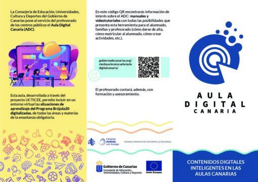 Aula Digital Canaria. Contenidos digitales inteligentes en las aulas canarias