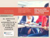 Folleto informativo – Educación de Personas Adultas