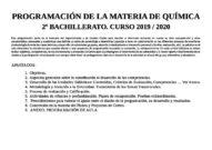 Programación Química 2BAC