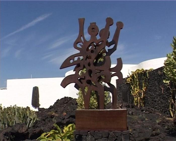 Escultura en la Fundación César Manrique, Tahiche, Lanzarote