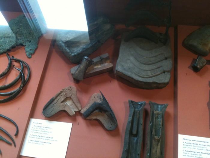 Moldes y herramientas de la Edad del Bronce