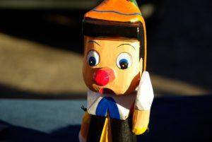 La nariz de Pinocho.