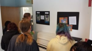 Showtime - the pictures are on display in the corridor.