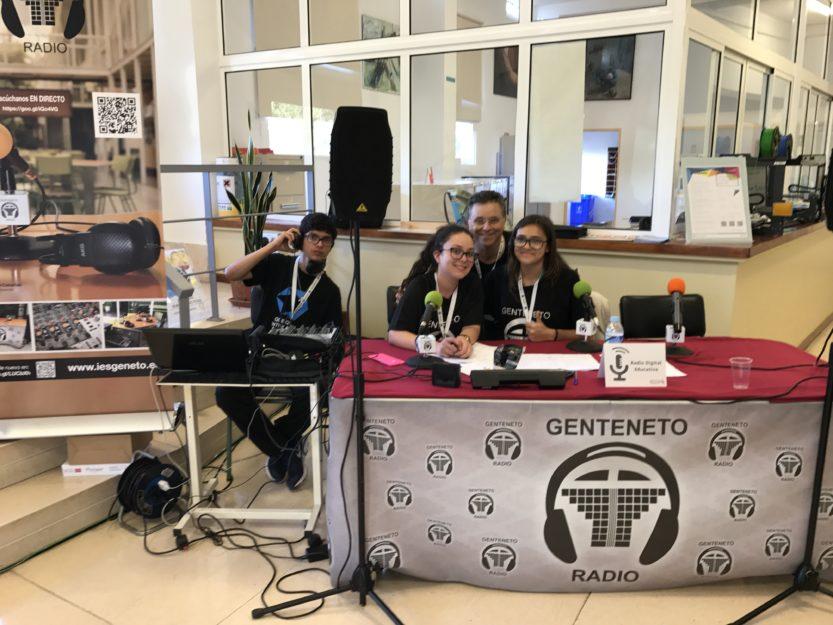 Compartimos experiencias con Radio Geneto, hoy en el CEP de La Laguna